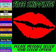 5 Lips Kiss Car Truck Laptop Window Vinyl Decal Sticker Ebay