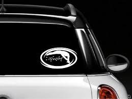 Amazon Com Classy Vinyl Creations Iswim Swim Swimming Swimmers Decal Car Window Decal Sticker Car Truck Suv Bumper Sticker Iswim Automotive