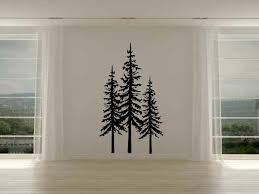 Loon Peak Railsback Pine Trees Vinyl Wall Decal Wayfair