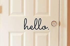 Goodbye In Matte Black Vinyl 10x5 Decal Door House Decorative Home Hello Bye Art
