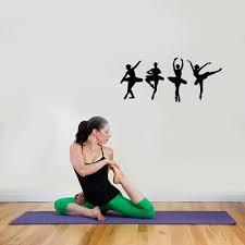 Woman Gym Fitness Training Diet Health Yoga Decal Wall Vinyl Sticker Ig3100 Home Garden Decor Decals Stickers Vinyl Art