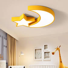 Creative Ceiling Lamp Iron Acrylic Moon And Star Cloud Kids Ceiling Lights Children Room Lamp 54