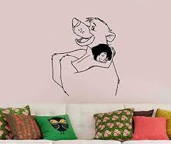 Amazon Com Baloo And Mowgli Vinyl Decal Sticker The Jungle Book Disney Art Cartoon Decorations For Home Kids Boys Room Nursery Wall Kitchen Dining
