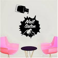 Nail Salon Sign Window Decal Vinyl Manicure Fashion Wall Sticker Art Decor Spa Beauty Salon Room Custom Mural Wallpaper Sticker For Wall Sticker For Wall Decoration From Joystickers 11 67 Dhgate Com