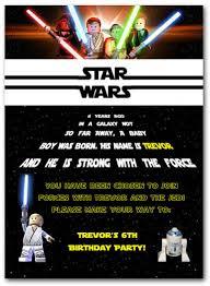 Lego Star Wars Birthday Invitations Free Invitetown Cumpleanos
