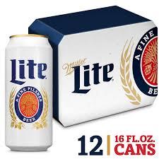 miller lite beer american lager 12