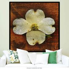 White Dogwood Tree Flower Wall Decal At Retro Planet