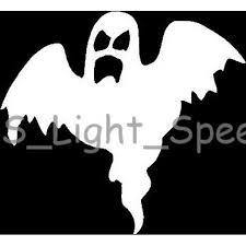 2 Scary Ghost Spooky Halloween Vinyl Decal Car Window Stickers White Walmart Com Walmart Com