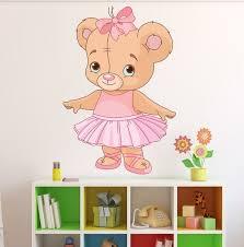Style And Apply Ballerina Teddy Bear Wall Decal Wayfair
