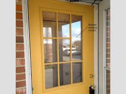 replacing a gl frame in an exterior door