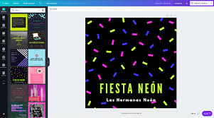 Disena Invitaciones Para Neon Party Online Gratis Canva
