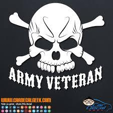 Army Veteran Skull Vinyl Car Decal Sticker Military Decals