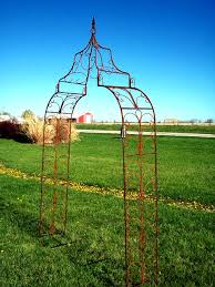 wrought iron gothic arch solid steel