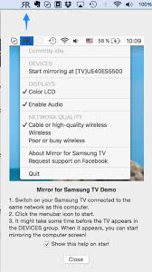 mac screen mirroring to samsung tvs