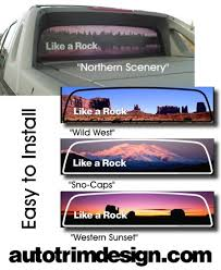Chevrolet Avalanche Rear Window Graphic Outdoor Series 2