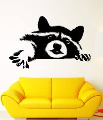 Vinyl Wall Decal Funny Animal Raccoon Head Rodent Pet Stickers Unique Wallstickers4you