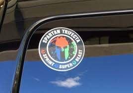 Spartan Race Trifecta Car Or Wall Decal Spartan Sprint Spartan Race Wyoming