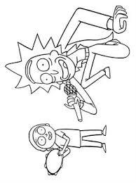 Kids N Fun 22 Kleurplaten Van Rick And Morty
