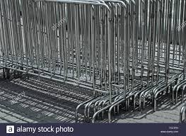 Portable Sections Of Temporary Barrier Made Of Stainless Steel Are Designed To Prevent Throng In Crowded Places Stock Photo Alamy
