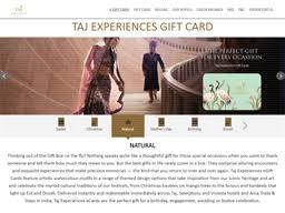 taj experiences gift card balance