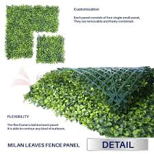 Windscreen4less Artificial Faux Ivy Leaf Decorative Fence Screen 4 X 8 Ivy Leaf Decorative Fence Screen