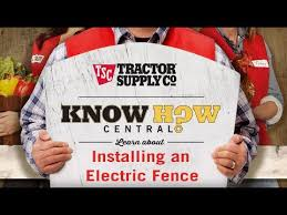 How To Install An Electric Fence Youtube