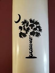 South Carolina Palmetto Tree Moon Vinyl Decal Other Colors Available Ebay