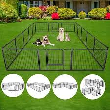 Zeny 24 H Heavy Duty Metal Dog Playpen 16 Panels Walmart Com In 2020 Dog Playpen Puppy Playpen Pet Playpens