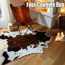 soft faux cowhide rug cow print rug