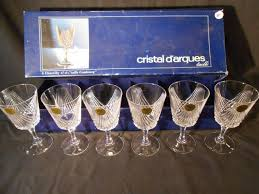 french crystal glassware set chantilly
