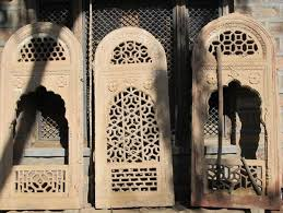 carved stone window from rajasthan