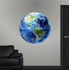 Planet Earth Hd Wall Decal Blue Marble Nova Wall Sticker Educational Graphic Ebay