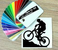 Mountain Biking Cycling Bike Car Sticker Vinyl Decal Adhesive Window Bumper Blac Ebay