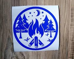 Campfire Car Decal Etsy