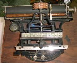 Rarest of the Rare 1888 Byron Brooks Crown Index Typewriter National Meter  Co NY | #443164323