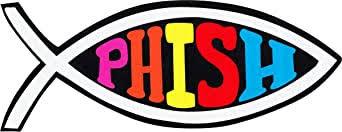 Amazon Com Phish Logo On Fish Symbol 8 75 X 3 75 Giant Die Cut Sticker Clothing