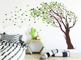 Amazon Com 3 Color Tree Forest Wall Decals Tree Wall Decals Forest Mural Multi Colored Decal Large Wall Decals Children S Forest Decals Ga194 Handmade