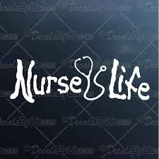 The 1 Source For Nurse Life Stethoscope Car Stickers