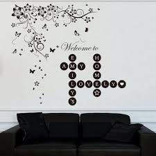 Winston Porter Word Puzzles Welcome Home New Butterfly Vine Wall Decal Wayfair