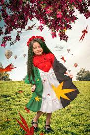 خلفية رائعة لطفلة بثوب علم فلسطين صور اطفال المصمم ادم حلس