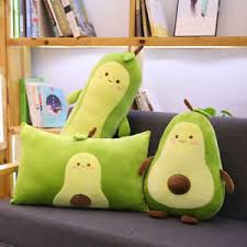 Large Avocado Plush Pillow Stuffed Toy Home Decor Throw Cushion Cute Gifts Kids Ebay
