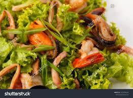 Seafood Salad Menu Restaurant Stock ...