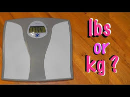 change bathroom scale from kg to lbs