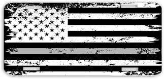 Thin Gray Line Distressed American Flag Correctional Officer Window Decal Sticker Gift Stickers