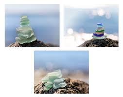 set of 3 beach glass photo prints