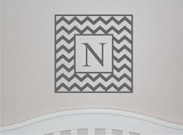 Make It Personal With This Classic Chevron Single Initial Wall Decal Nursery Room Makeover 10 Adorable Baby Room Decals Popsugar Family Photo 5