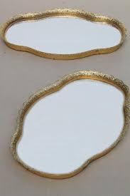 vintage gold lace filigree vanity tray