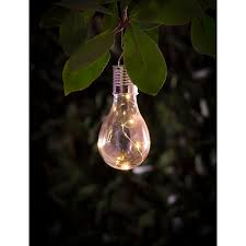solar hanging light bulb garden