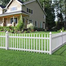 Outdoor Essentials Picketlock Pinehurst 3 Ft H X 8 Ft W White Vinyl Picket Fence Panel In The Vinyl Fence Panels Department At Lowes Com