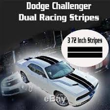 Dodge Challenger Dual Racing Stripes Rally Vinyl Decal Sticker Rt Srt Scat Pack